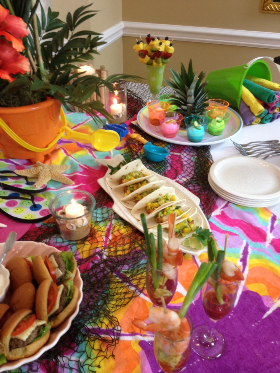 E how video on throwing an indoor beach party barbara for Indoor party decoration ideas