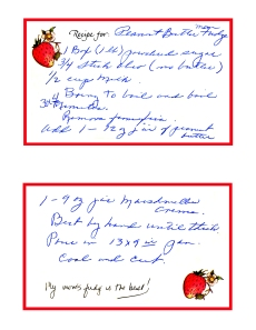 Mom's recipe card