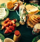 Our St. Patrick's Day table.