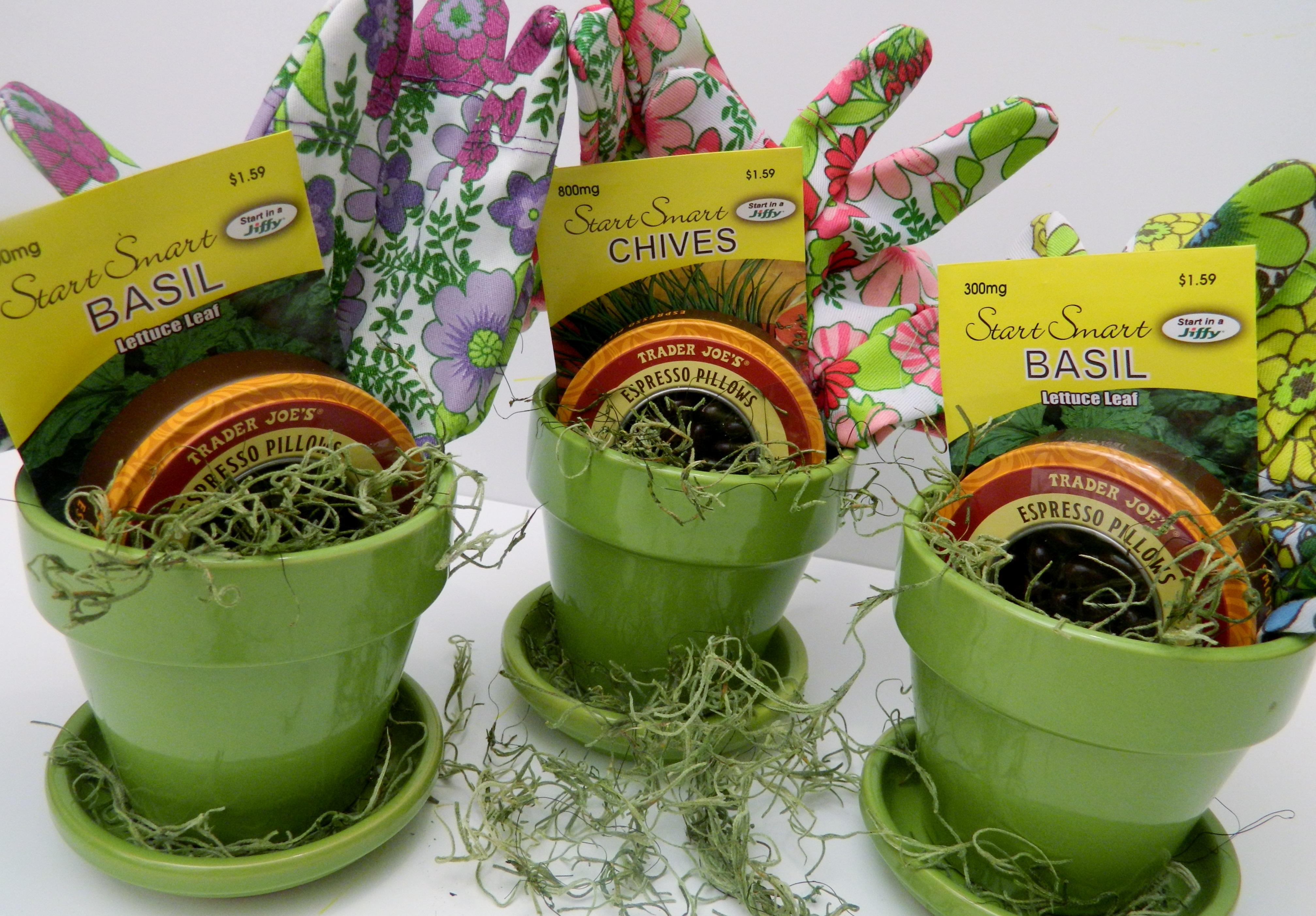 garden-themed party favors | Barbara Garneau Kelley